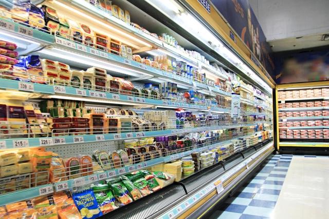 食品売り場の画像イメージ